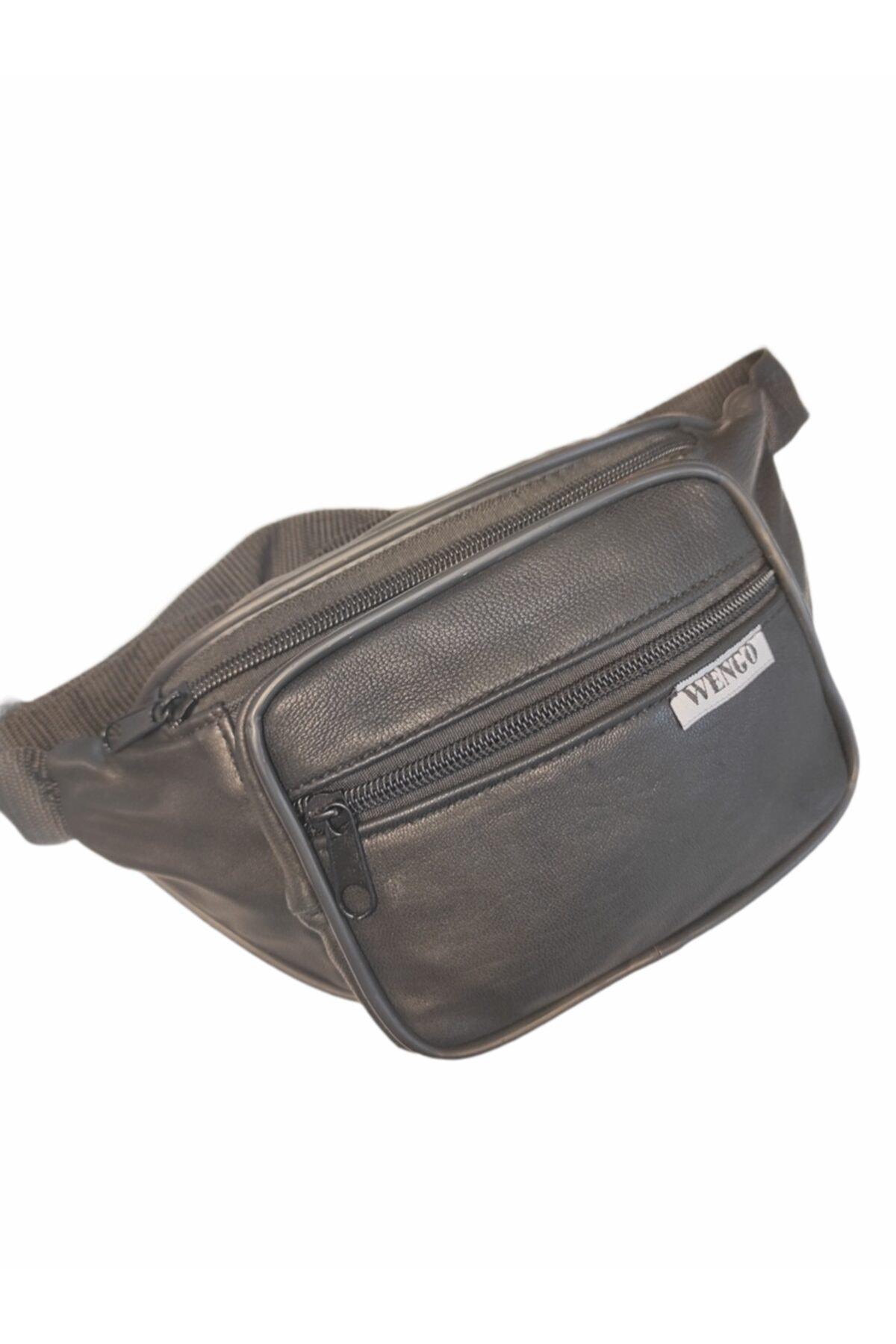 کیف کمری مردانه طرح دار برند Gölge kemer cüzdan ve çanta رنگ مشکی کد ty113264039