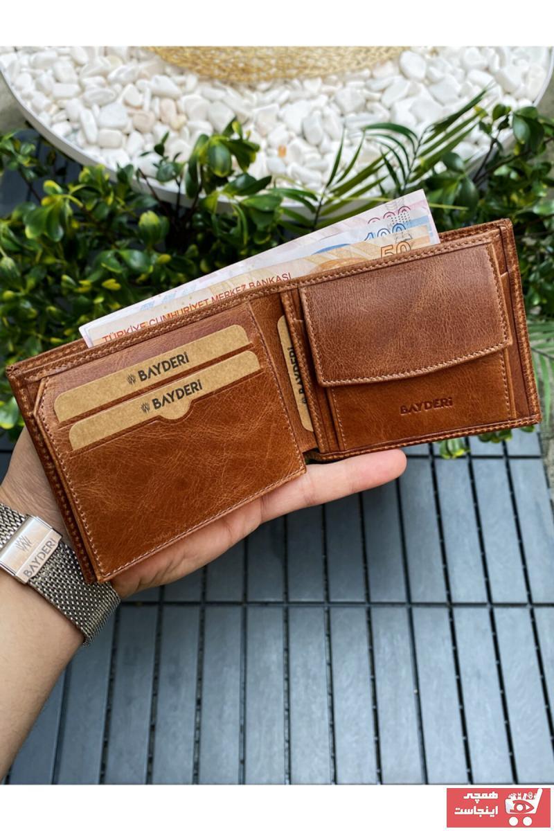 کیف پول مردانه جدید برند BAYDERİ رنگ قهوه ای کد ty117290740