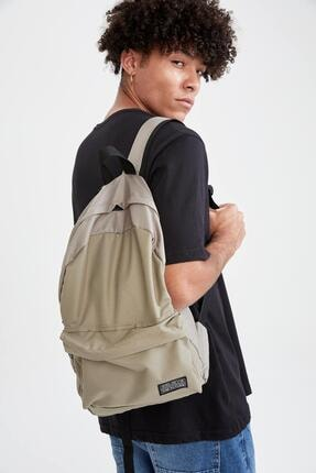 خرید  کوله پشتی مردانه فانتزی برند دفاکتو ترکیه رنگ خاکی کد ty121324490