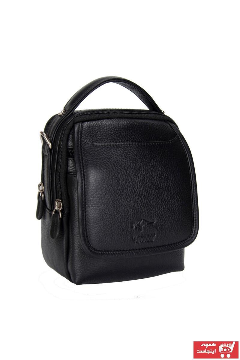 کیف دستی مردانه مدل دار برند KANGAROO KINGDOM رنگ مشکی کد ty32060980
