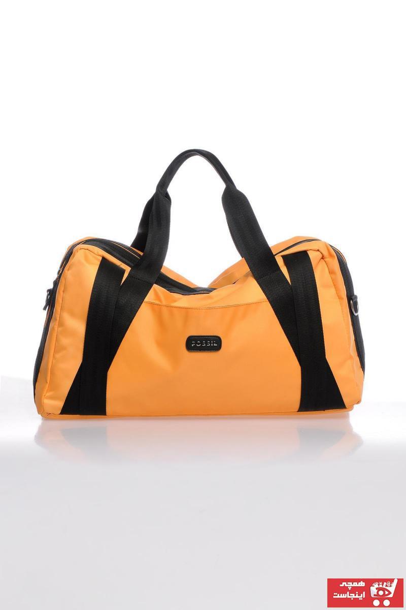 کیف ورزشی مردانه اصل برند Fossil رنگ زرد ty58716462