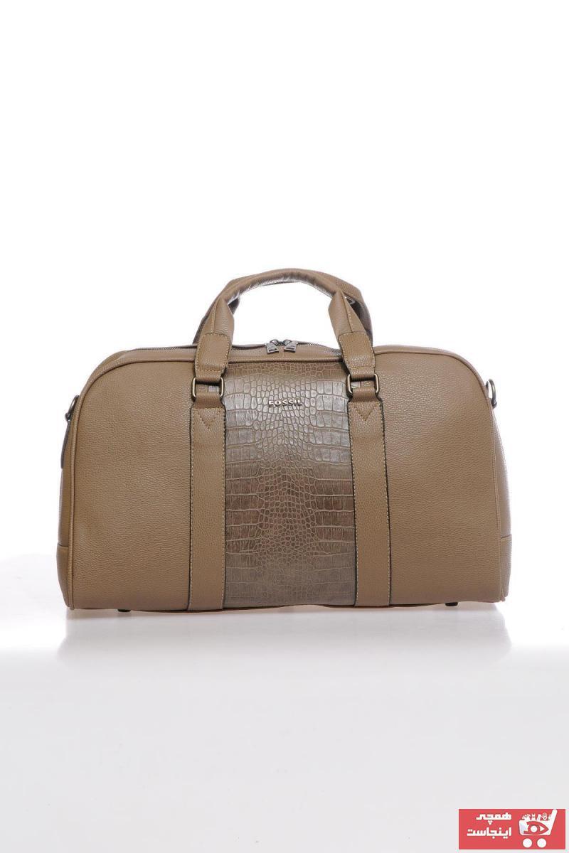 فروش کیف ورزشی مردانه حراجی برند Fossil رنگ قهوه ای کد ty58716514