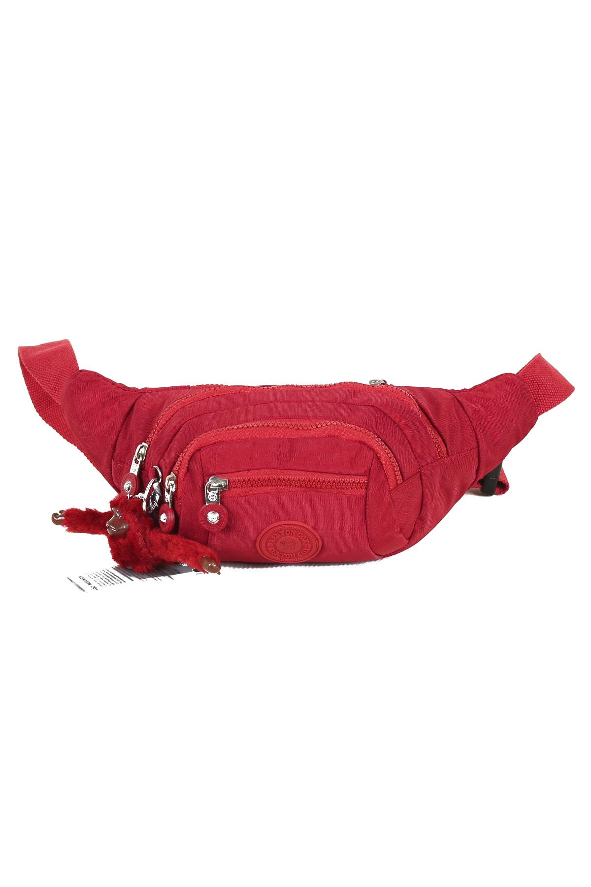 فروش کیف کمری مردانه اصل و جدید برند Kenyon Cox رنگ زرشکی ty75844323