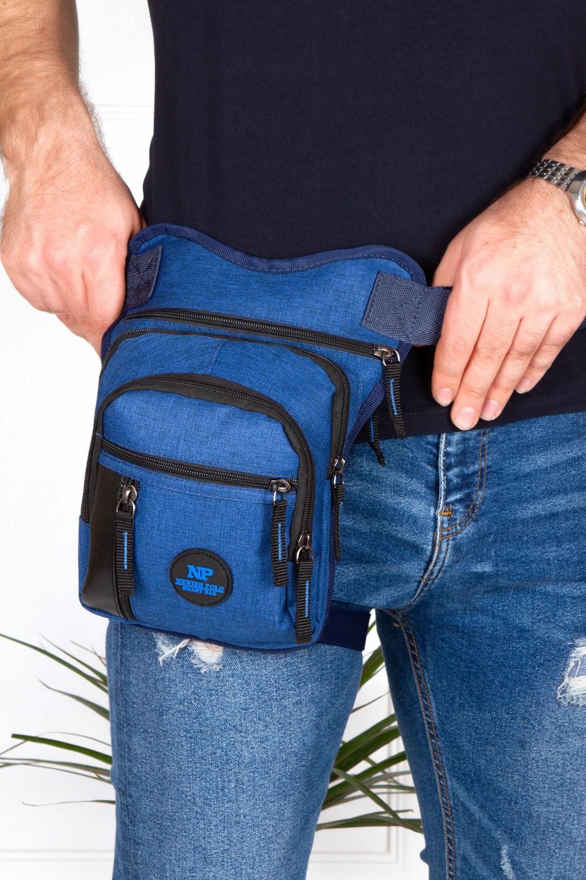 کیف کمری ارزان برند Newish رنگ آبی کد ty95253236