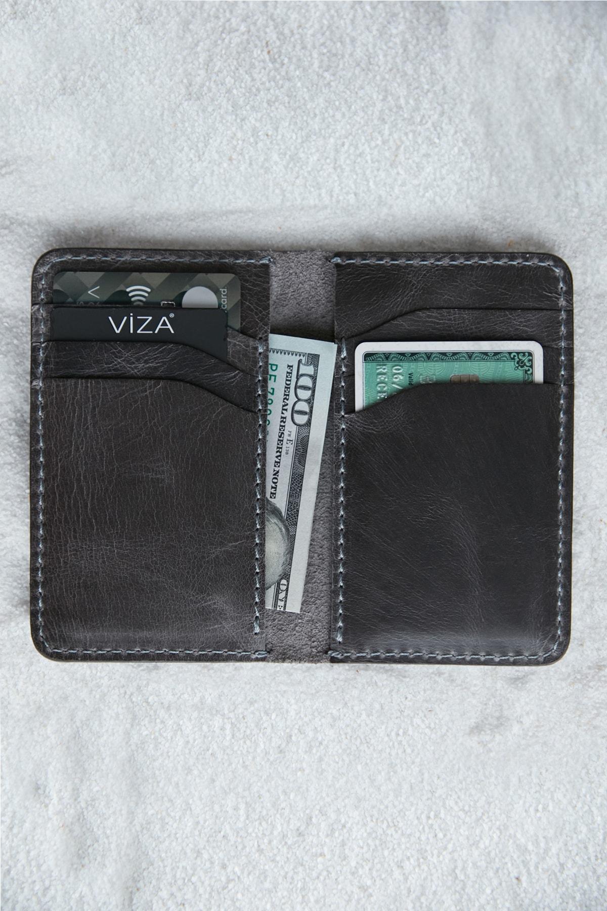 خرید نقدی کیف کارت اعتباری اصل برند VİZA LEATHER رنگ نقره ای کد ty95963414