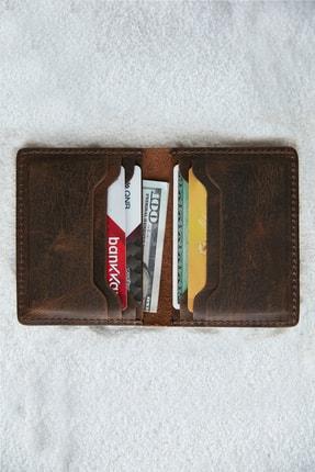 کیف کارت بانکی مردانه خاص برند VİZA LEATHER رنگ قهوه ای کد ty96039377