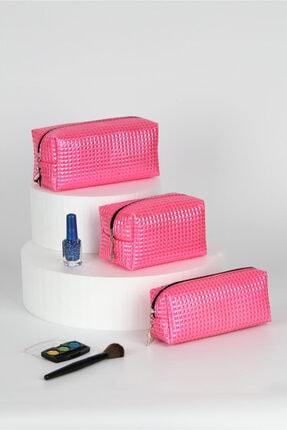 کیف لوازم آرایش اورجینال زنانه برند Rof Bag رنگ صورتی ty110708081