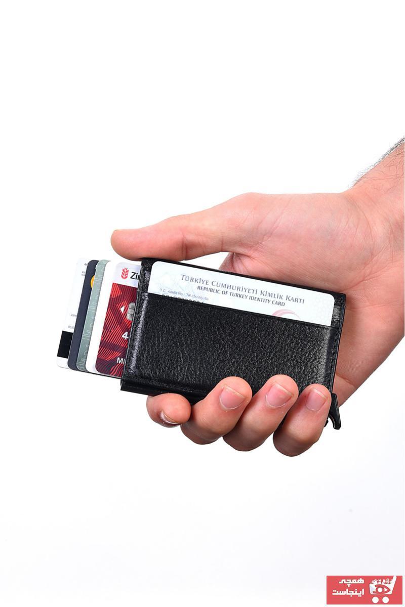 خرید انلاین کیف پول طرح دار برند EŞSİZ رنگ مشکی کد ty111400886