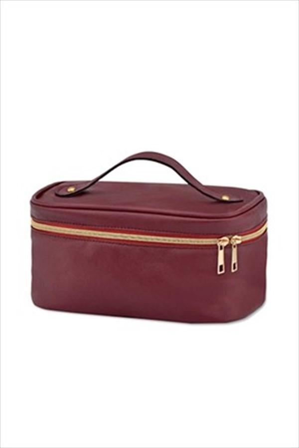 سفارش کیف لوازم آرایش زمستانی دخترانه برند AVON رنگ زرشکی ty112143