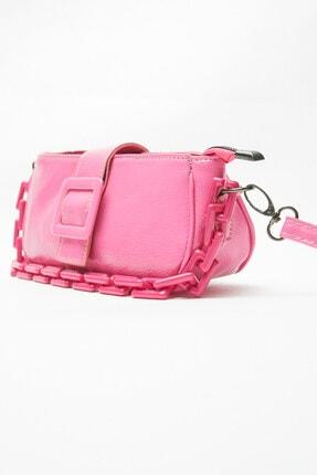 کیف دستی اصل برند Ludo Vico رنگ صورتی ty118643780