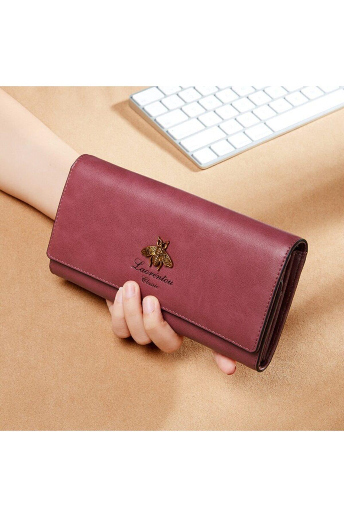 کیف پول جدید برند Laorentou رنگ بنفش کد ty118725116