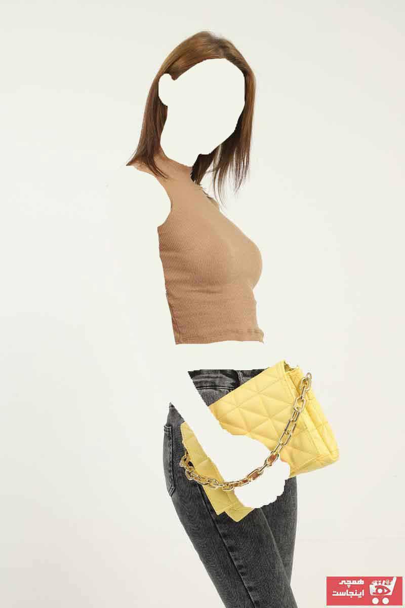 سفارش کیف رودوشی دخترانه ارزان برند Qafiye Prive رنگ زرد ty118942586