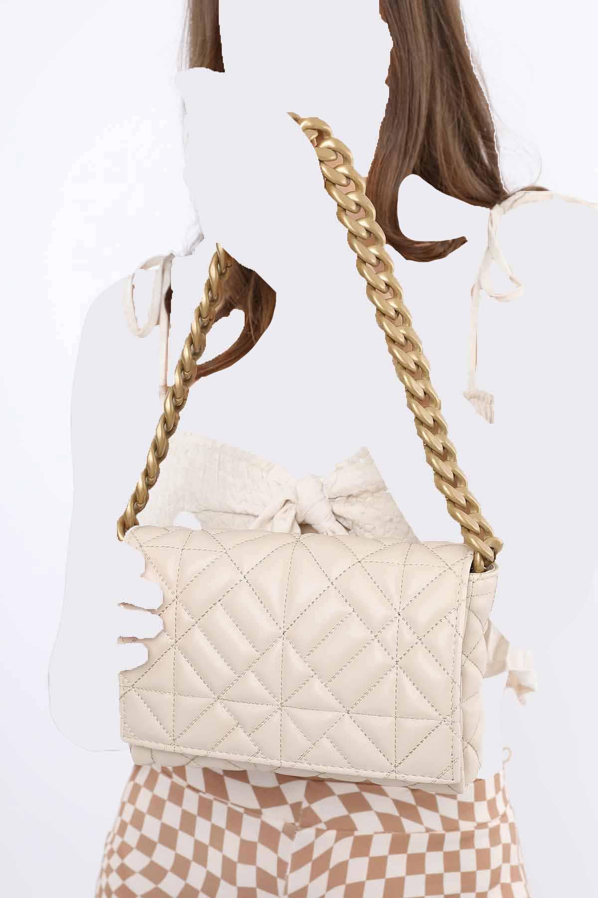 کیف رودوشی دخترانه فروش برند Madamra رنگ بژ کد ty120990522