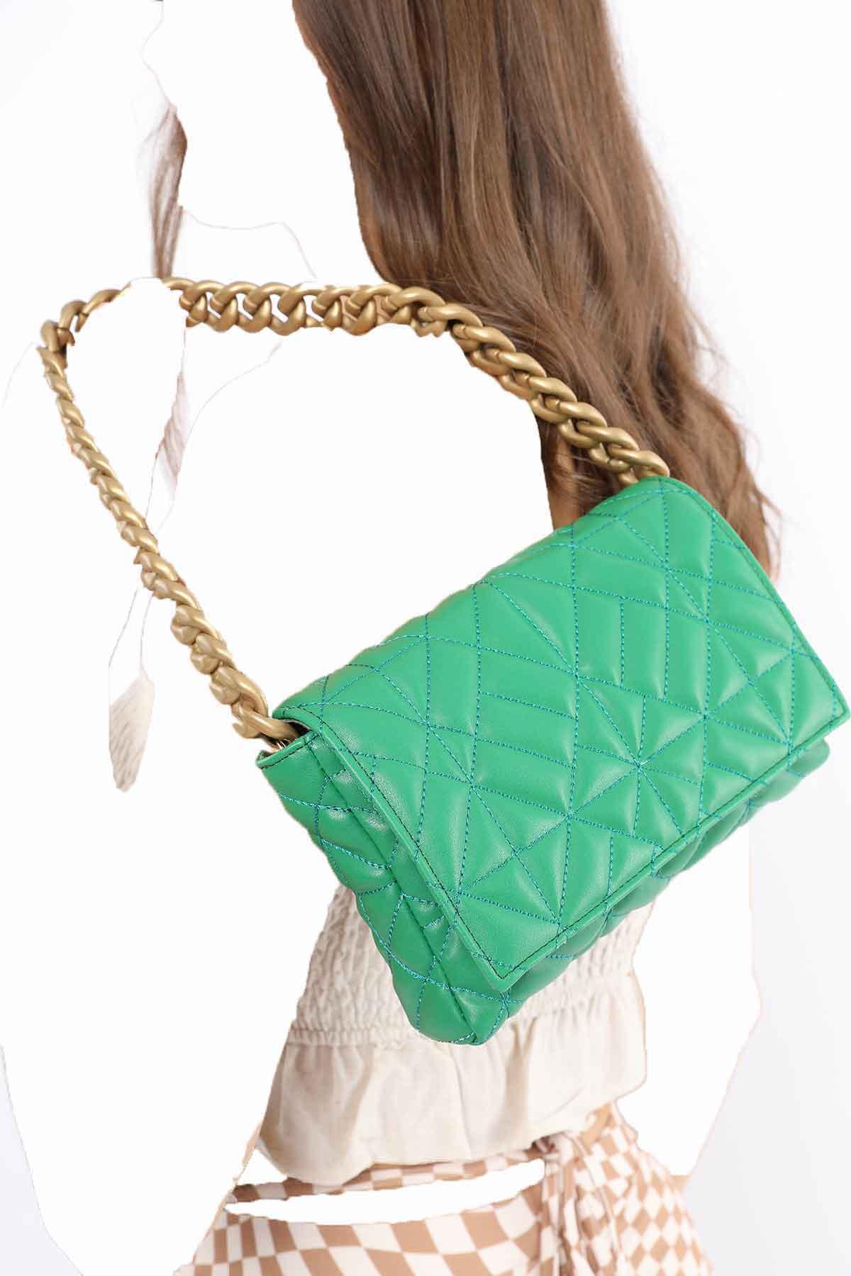 خرید انلاین کیف رودوشی زنانه ترکیه برند Madamra رنگ سبز کد ty120990842
