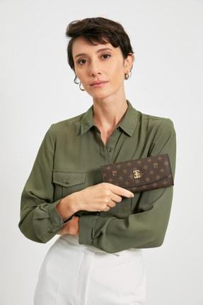 کیف پول زنانه شیک برند پیرکاردن رنگ قهوه ای کد Monogram ty121952987