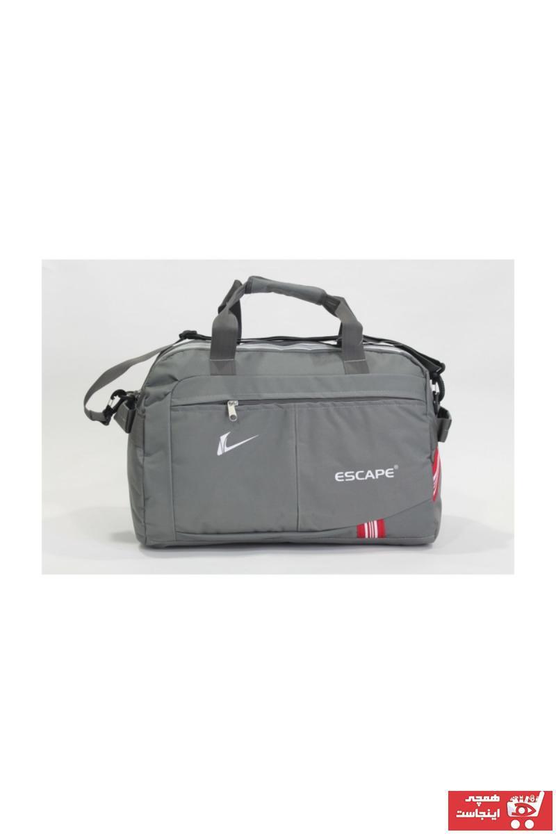 کیف ورزشی طرح دار برند ESCAPE رنگ نقره ای کد ty34858217