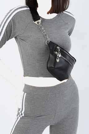 کیف کمری زنانه ترک مجلسی برند G&E BAGS رنگ مشکی کد ty42612028