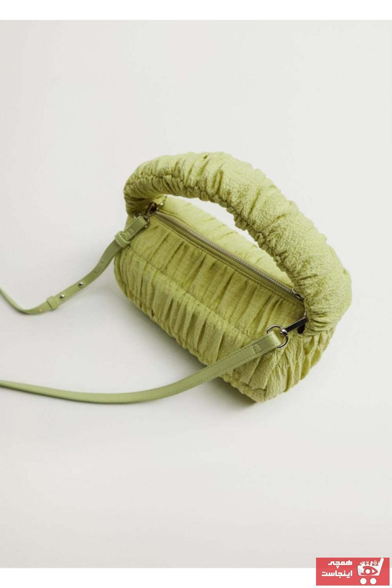 فروش کیف رودوشی دخترانه برند MANGO Woman منگو رنگ سبز کد ty88683018