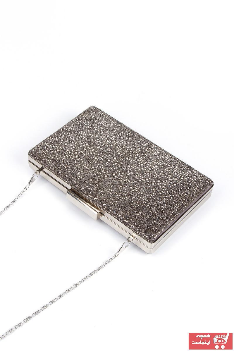 کیف مجلسی زنانه برند Cavalier رنگ نقره ای کد ty93586061