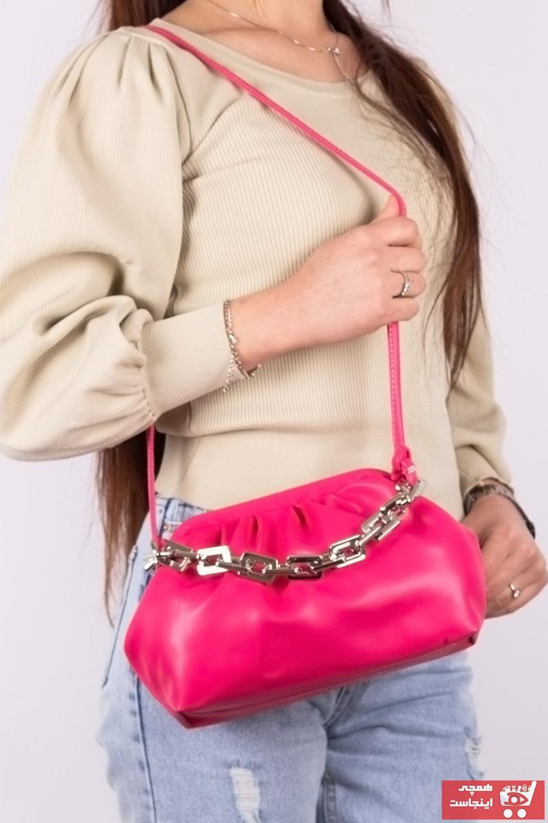 خرید اسان کیف رودوشی دخترانه اسپرت جدید برند تونی بلک اورجینال رنگ صورتی ty94445360