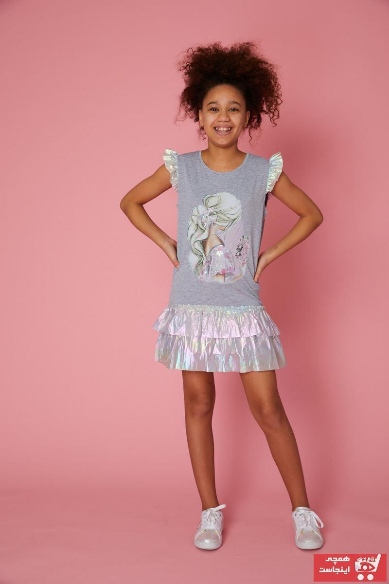 خرید پیراهن دخترانه فانتزی برند Little Star رنگ نقره ای کد ty103928911