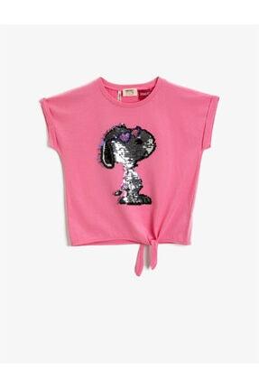 تیشرت دخترانه مارک دار برند Koton Kids رنگ صورتی ty104233794