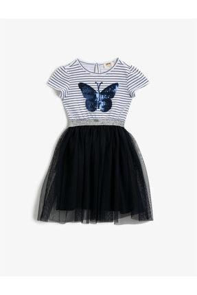 پیراهن دخترانه ارزان برند Koton Kids رنگ لاجوردی کد ty106358946