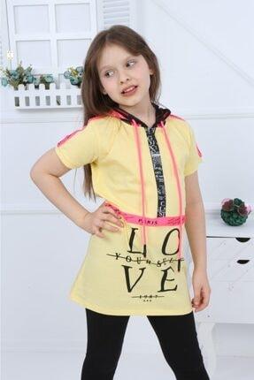 فروش تونیک دخترانه جدید برند ixoskids club رنگ زرد ty106619730