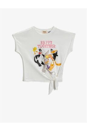 تیشرت دخترانه فانتزی برند Koton Kids رنگ کرمی کد ty106958389
