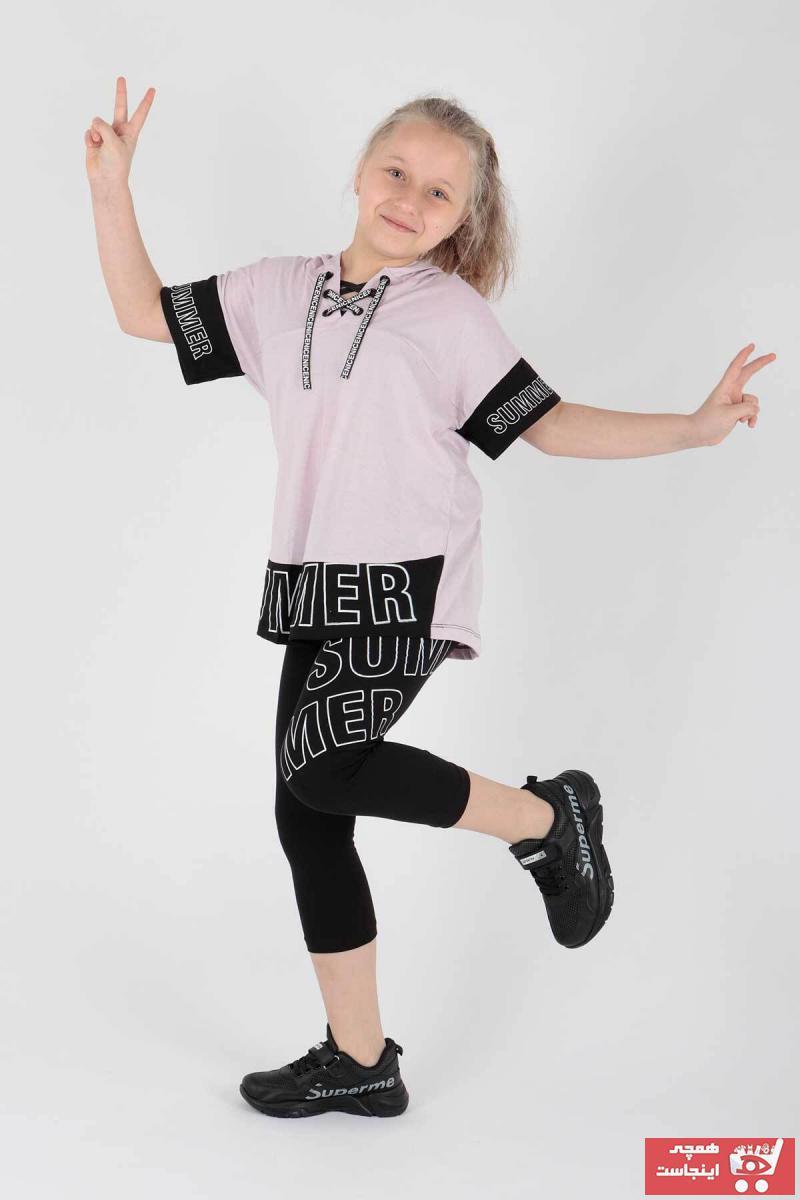 خرید ست لباس دخترانه ترک جدید برند Ahenk Kids رنگ بنفش کد ty107044612