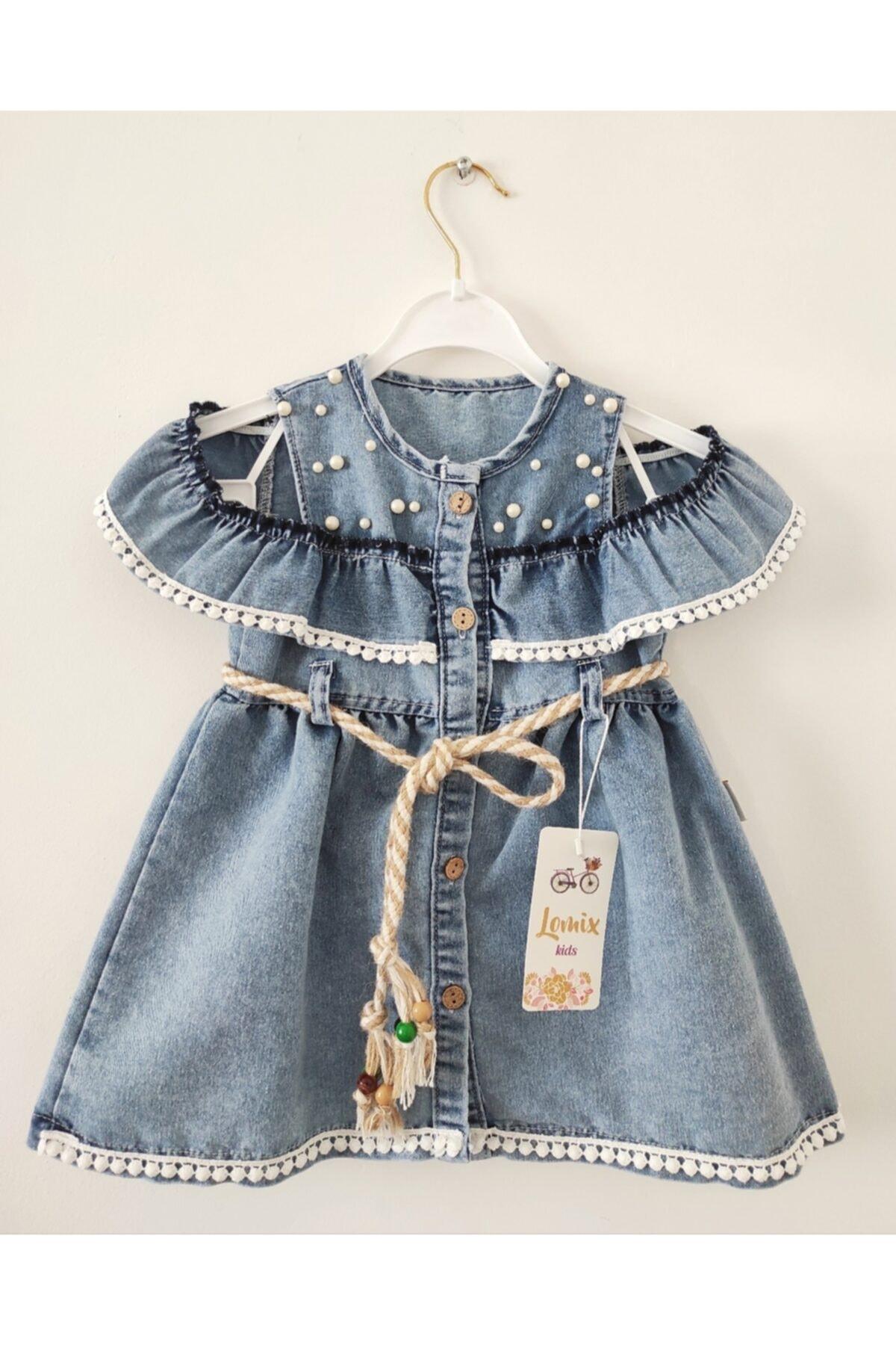خرید نقدی پیراهن شلوارک دخترانه برند Lomix kids رنگ آبی کد ty108896881