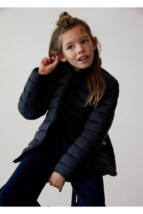 فروش پستی کاپشن دخترانه ترک برند مانگو رنگ لاجوردی کد ty111202616