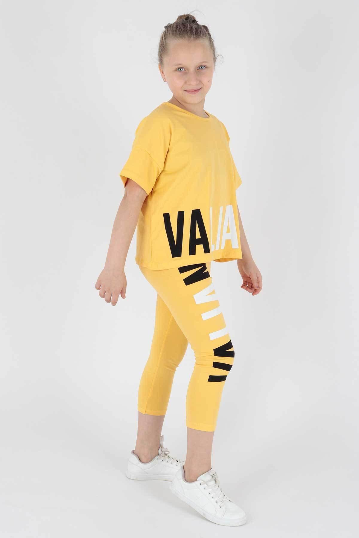 ست لباس دخترانه جدید برند Ahenk Kids رنگ زرد ty112214088