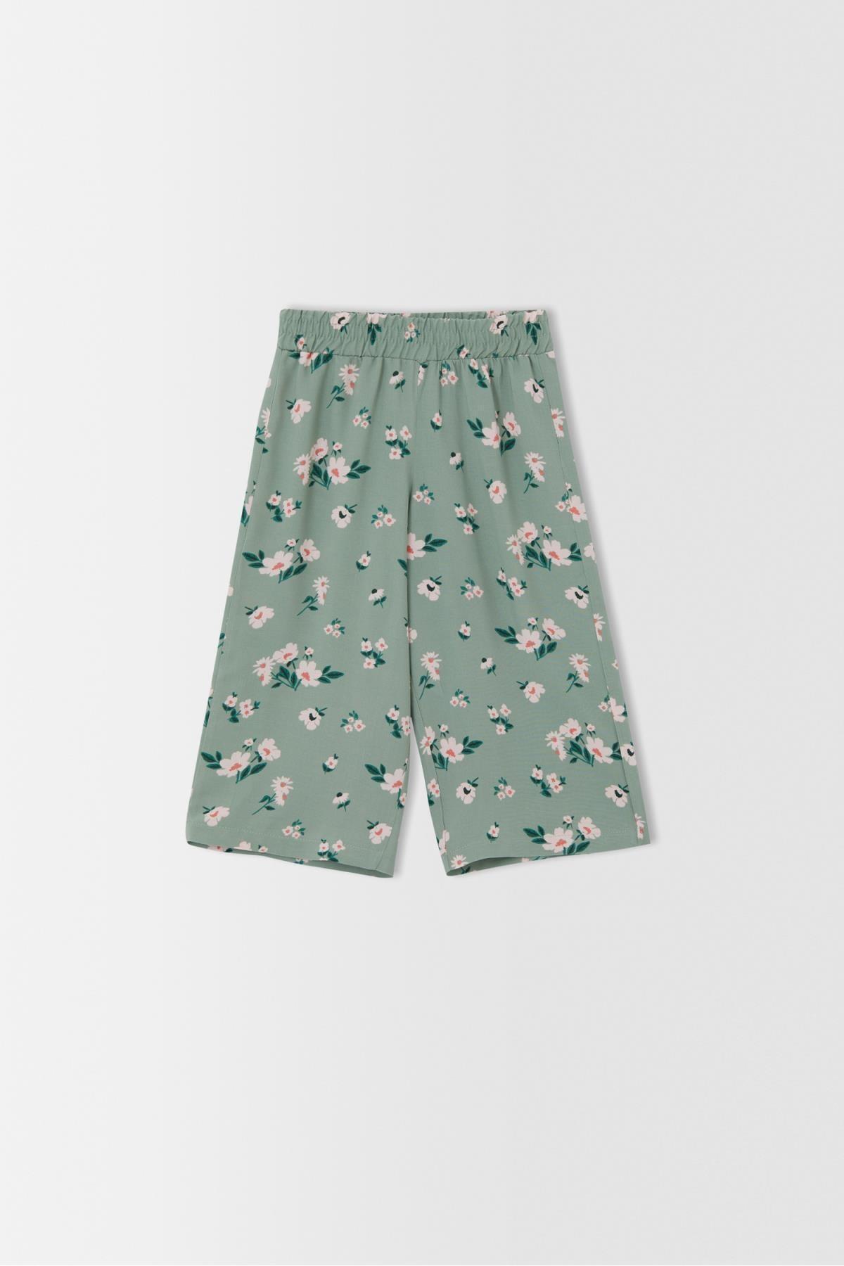 فروش شلوار دخترانه شیک و جدید برند دفاکتو ترکیه رنگ سبز کد ty113836524
