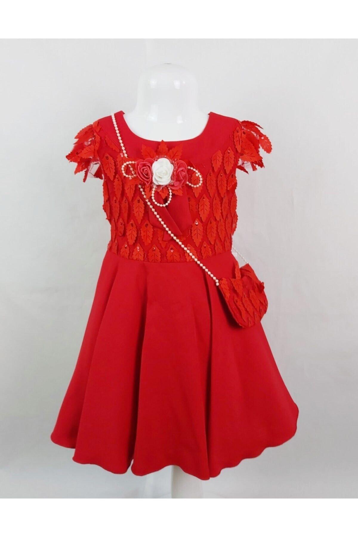 خرید اینترنتی پیراهن خاص دخترانه برند ÖFİ Kids رنگ قرمز ty114224874