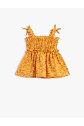 بلوز دخترانه شیک برند Koton Kids رنگ زرد ty114451708