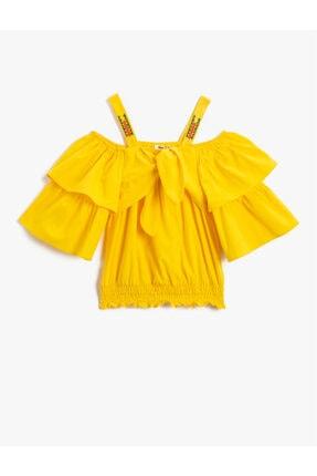 بلوز دخترانه مدل 2021 برند Koton Kids رنگ زرد ty114504417