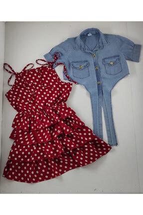 پیراهن دخترانه اسپرت جدید برند kaplanbebe رنگ قرمز ty118644879