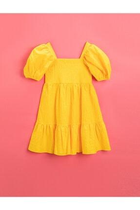 ژورنال پیراهن دخترانه برند کوتون رنگ زرد ty119269818