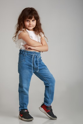ست شلوار دخترانه برند Dragora رنگ آبی کد ty120231025