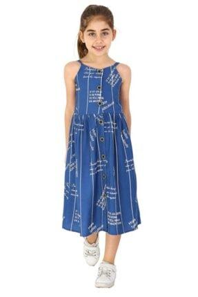 فروش انلاین پیراهن دخترانه مجلسی برند Smile Kids رنگ لاجوردی کد ty123794155