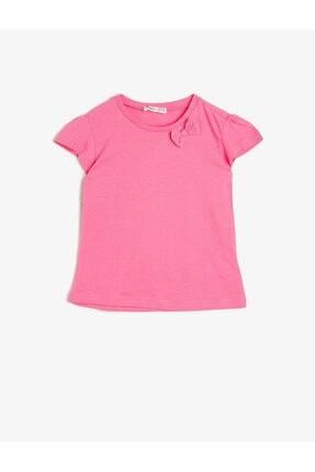 خرید پستی تیشرت دخترانه برند Koton Kids رنگ صورتی ty35153539