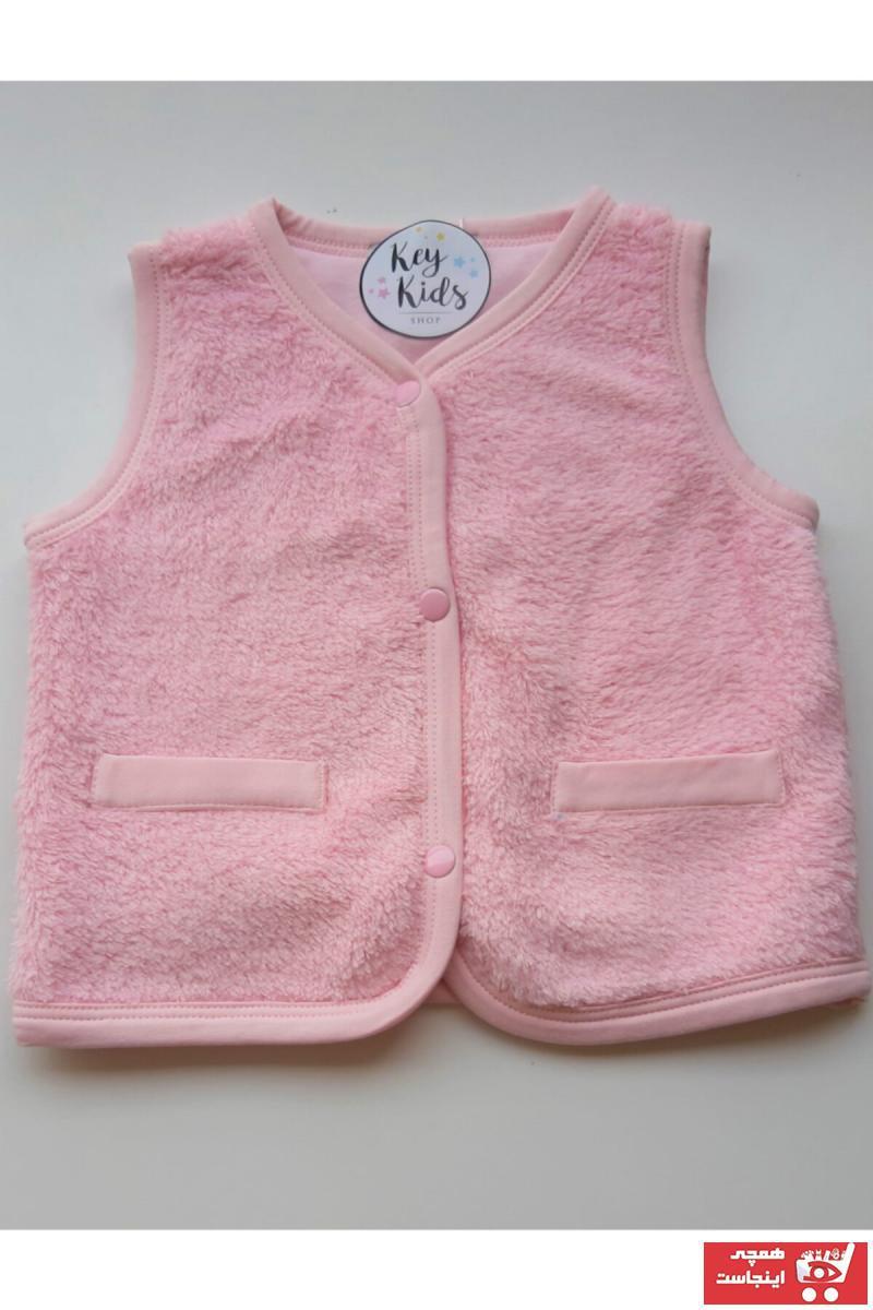 فروشگاه جلیقه دخترانه تابستانی برند KEY KIDS رنگ صورتی ty35328351
