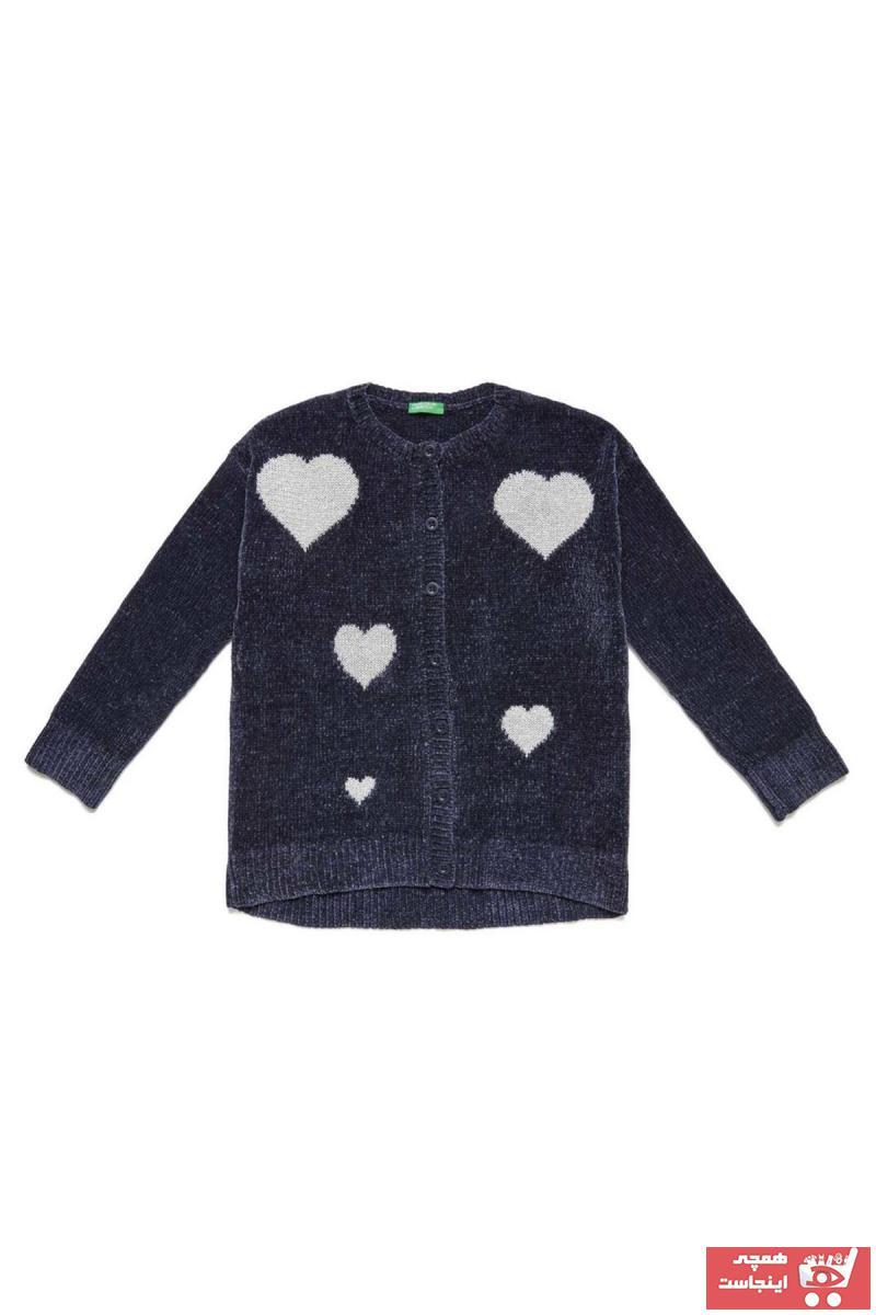 ژاکت جدید دخترانه شیک برند United Colors of Benetton رنگ لاجوردی کد ty36596239