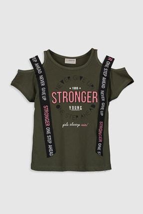 تیشرت دخترانه ارزان قیمت برند ال سی وایکیکی ترک رنگ خاکی کد ty36914453
