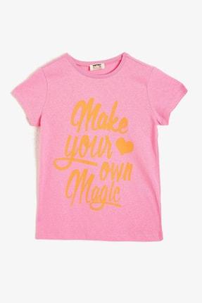 فروش پستی تیشرت دخترانه ترک برند Koton Kids رنگ صورتی ty37628517