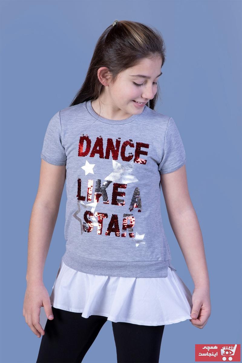 تونیک دخترانه نخی برند Toontoy رنگ نقره ای کد ty39097177