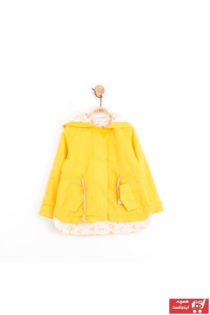 سفارش انلاین بارانی ساده برند nk kids رنگ زرد ty40584195