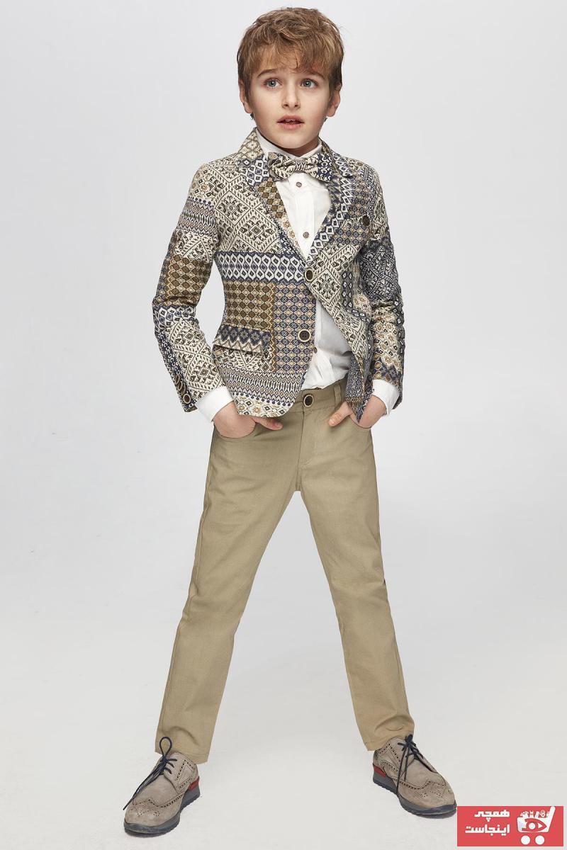 خرید پستی شلوار دخترانه پارچه نخی برند Nebbati رنگ بژ کد ty41843905