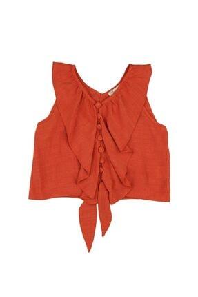 بلوز دخترانه فروشگاه اینترنتی برند best kids رنگ نارنجی کد ty49733182